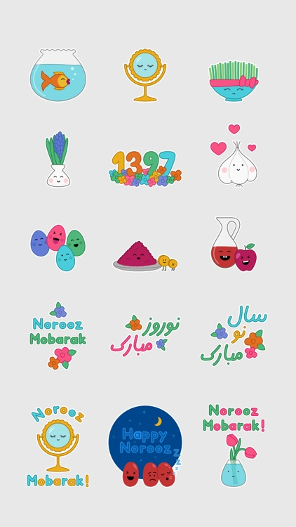 Norooz Haft Seen Stickers