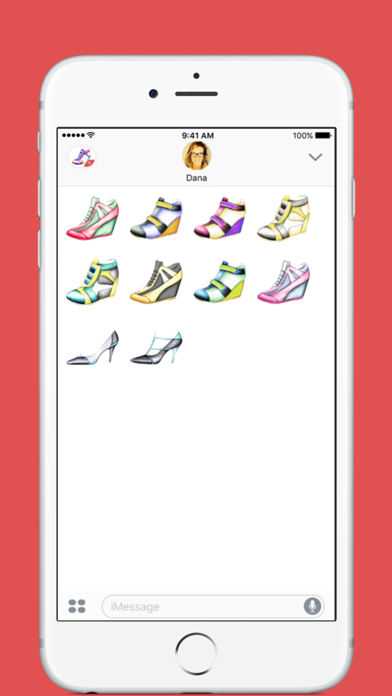 Shoes stickers by Weds for iMessage screenshot two