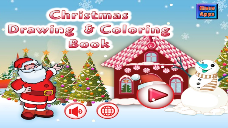 Christmas Drawing Coloring Book