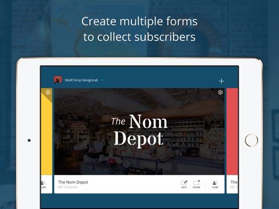 MailChimp Subscribe screenshot one
