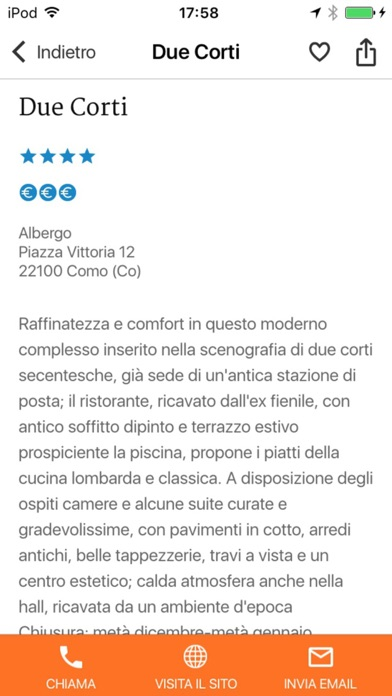 Screenshot of Lombardia – Dormire e Mangiare Touring3
