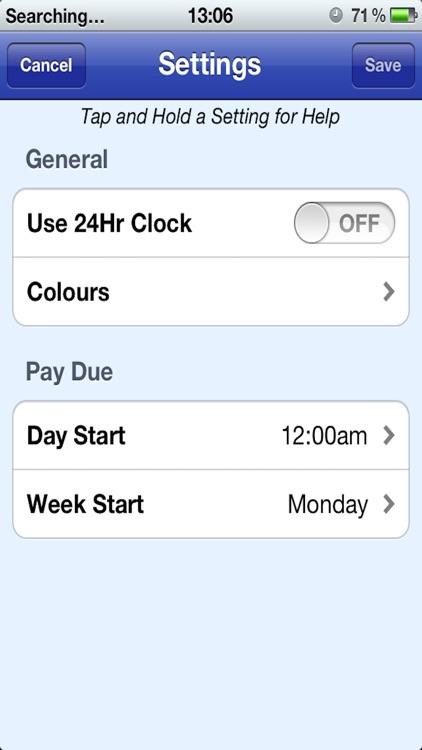 Easy Pay Diary screenshot-4