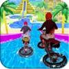 Water Slide Bike Racing