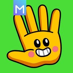 Handrew Stickers by Mojimade