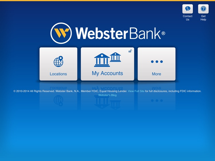 Webster Bank® Mobile for iPad
