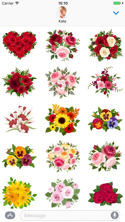 Bouquets - Stickers for iMessage