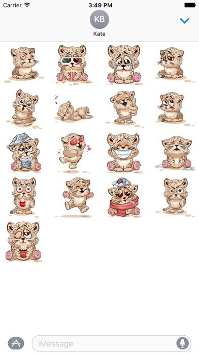 Leopard Stickersのスクリーンショット1