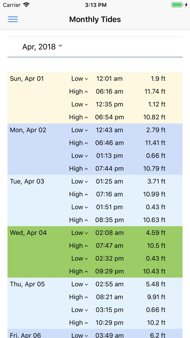 Tide Clock and Tide Times Screenshot