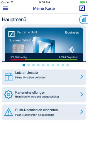 Meine Karte Deutsche Bank Ag Im App Store