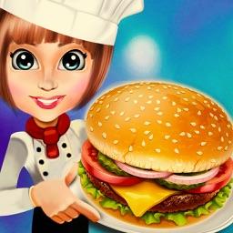 Food Court Hamburger Chef Cooking Burger maker Bar PRO