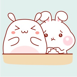 Bunny Couple Animated Stickers