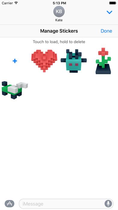 Screenshot #3 pour DIY Blocky Stickers