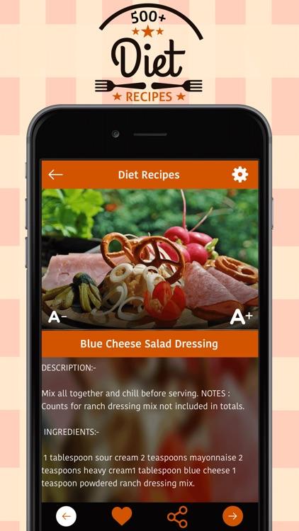 500+ Diet Recipes screenshot-3