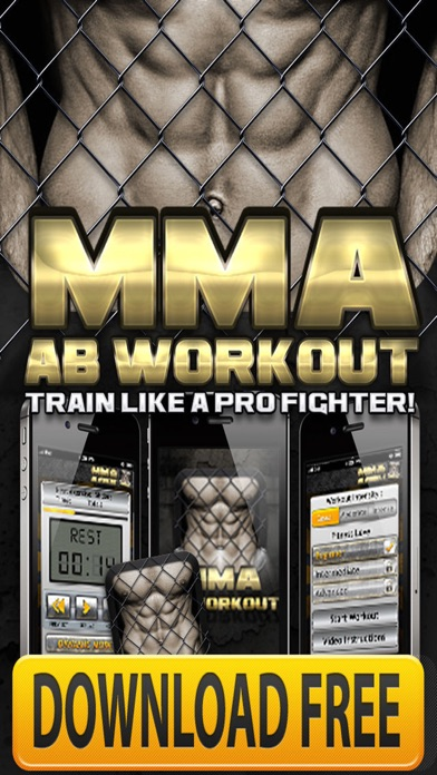 Ab Workouts MMA+ FREE Core Strength Abdominal Flex screenshot one