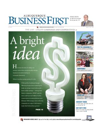 Screenshot of Albuquerque Business First