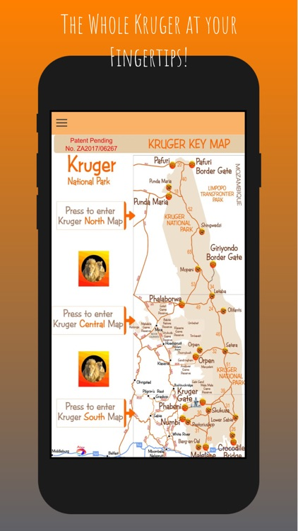 Kruger Map App screenshot-1