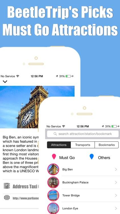 London travel guide and offline city map, Beetletrip Augmented Reality London Metro Train and Walks screenshot-3