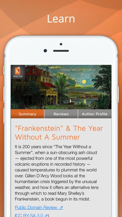 Frankenstein by Mary Shelley with BookClub