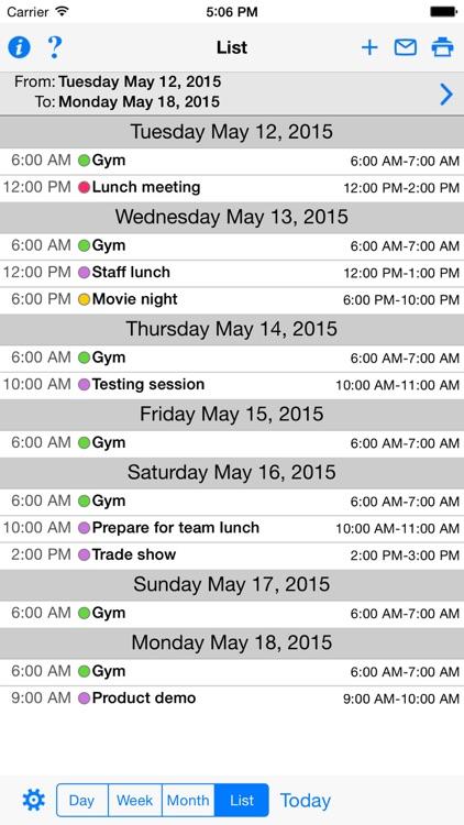 CalPrint for iPhone Calendar Printing screenshot-3