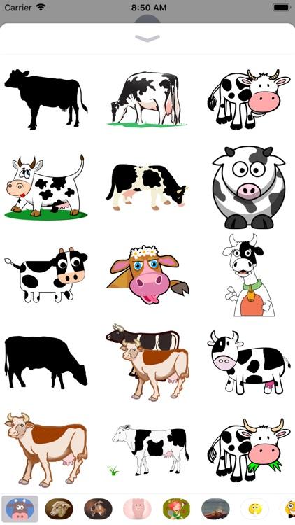 Cow Stickers - Sid Y