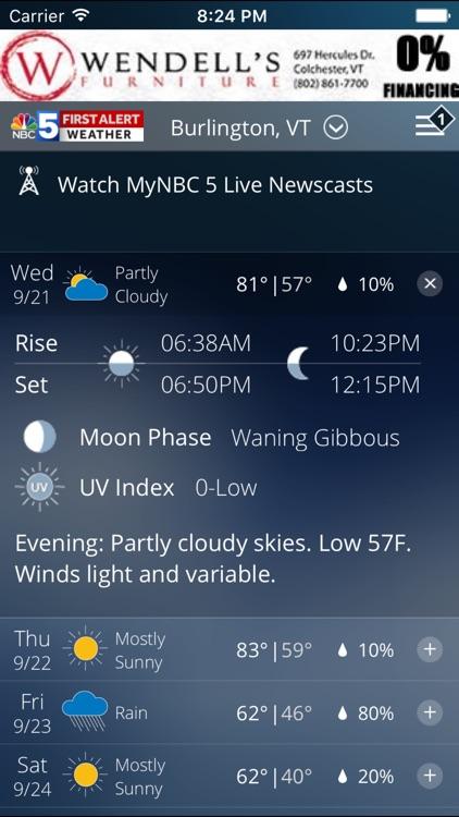 First Alert Weather WPTZ 5 screenshot-3