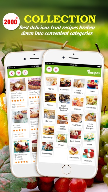 Yummy Fruit Recipes Pro ~ Best of delicious fruit recipes screenshot-0