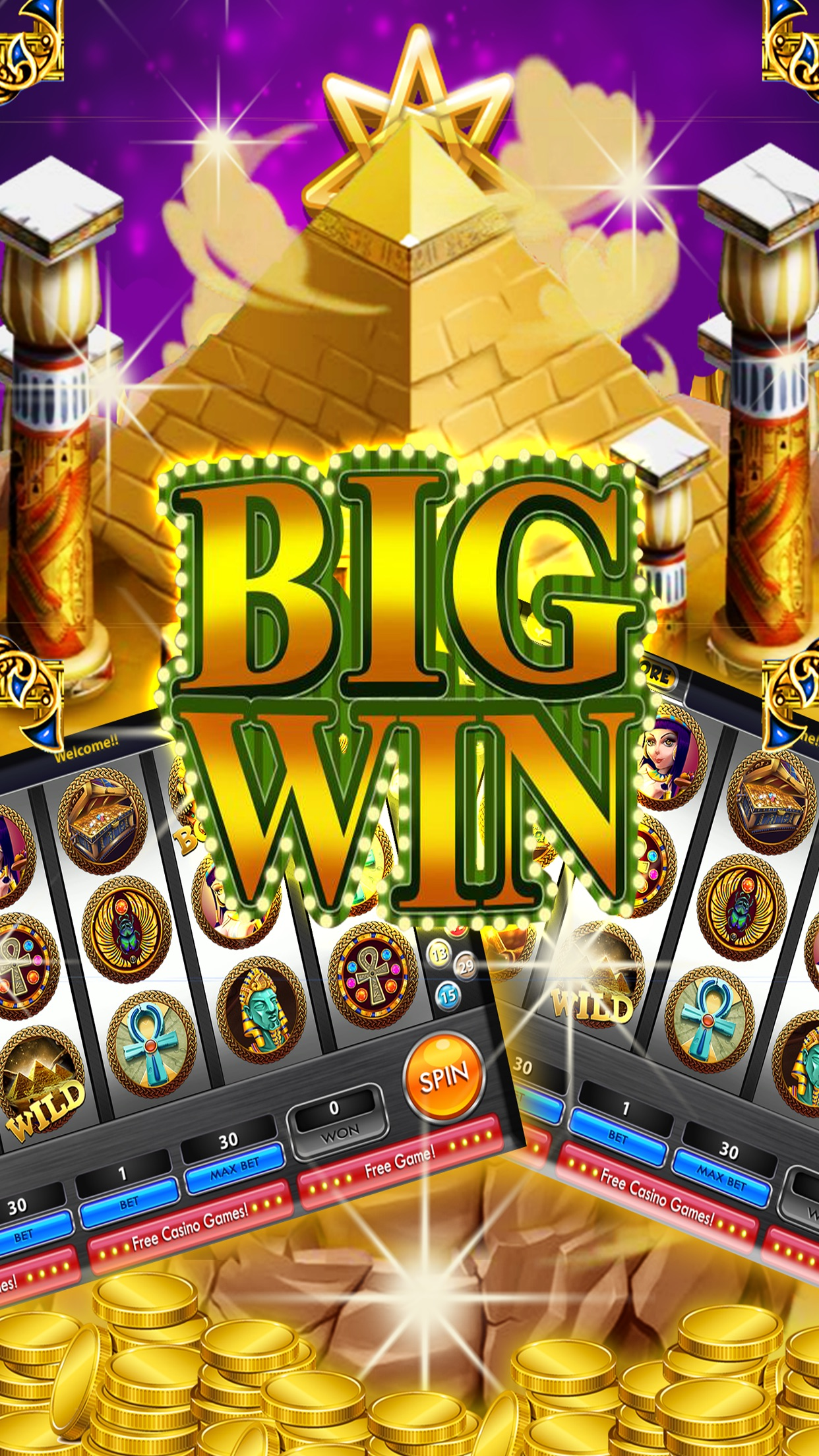 Valley of Kings Slots – Free HD Slot Machines Screenshot