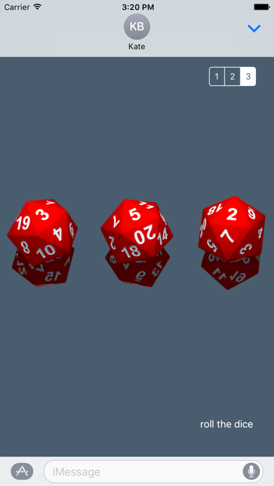 RPG D20 Role-Player Dice for iMessage screenshot two