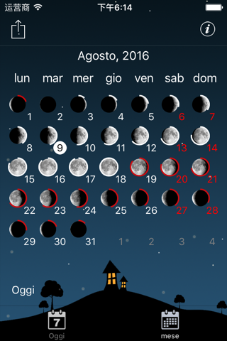 Moon phases calendar and sky screenshot 4