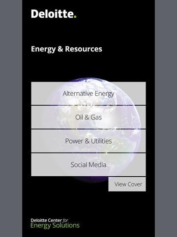 Screenshot of Deloitte Energy & Resources