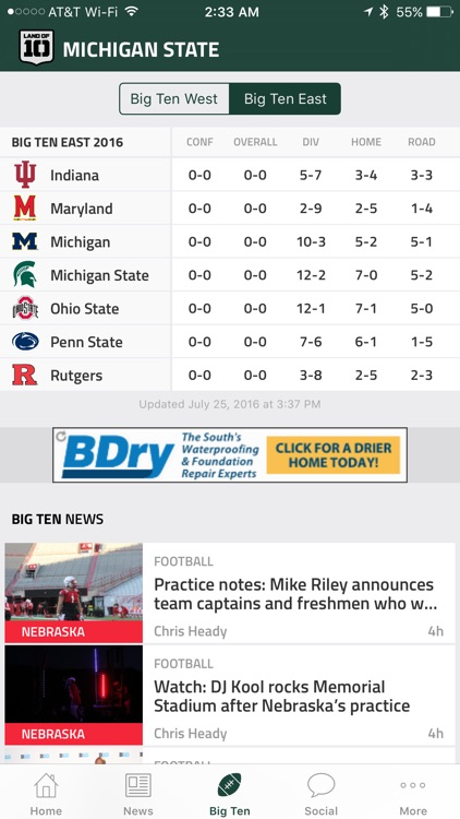 Land of Ten – Team-Specific Big Ten Football News screenshot-3