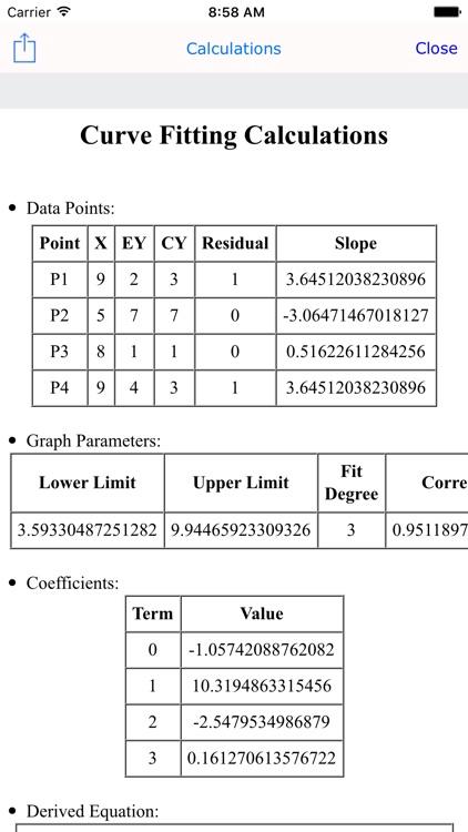 Curve Fit Graph Calculator screenshot-4
