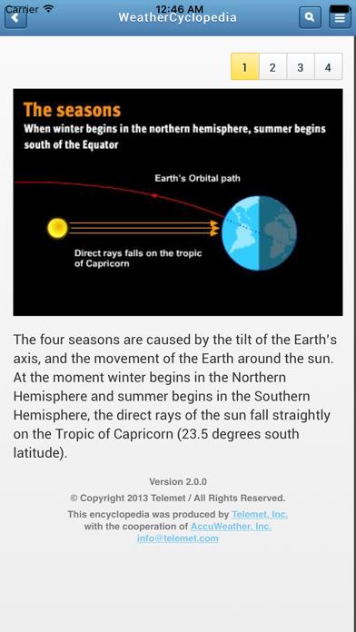 Accuweather Weathercyclopedia review screenshots