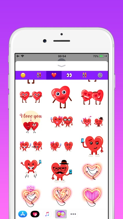 Couples in love emoji screenshot-2