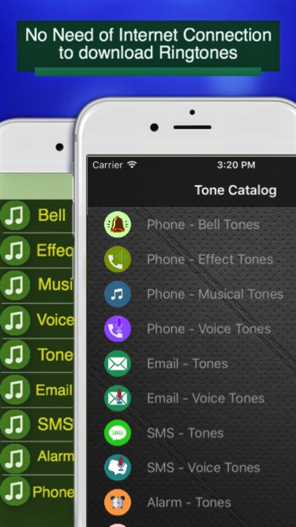 Ringtones for SMS, Emails, Phone Calls