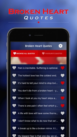 Broken Heart Quotes On The App Store Amazing Quotes Of A Broken Heart