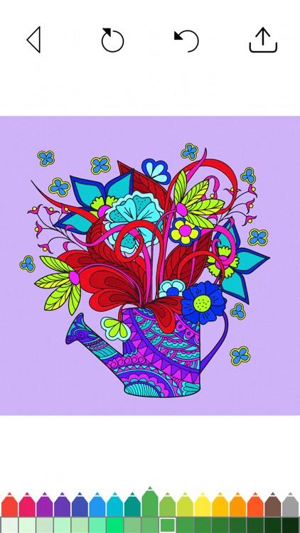 Flower Coloring Book Games screenshot-5