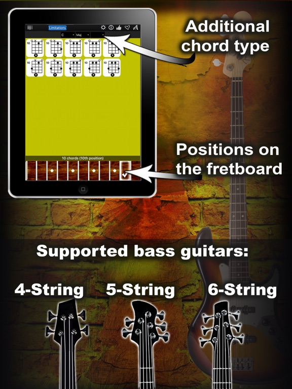 Bass Chords Compass Lite - learn the chord charts   App Price Drops