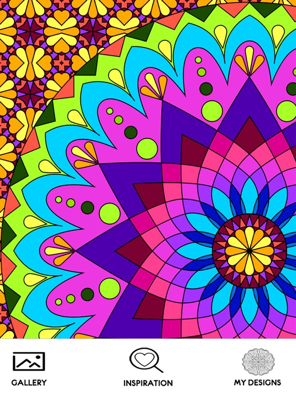 Screenshot 1 For Mandala Coloring Book Pages Adult