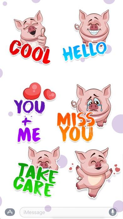Screenshot #3 for Piggy - Sticker Pack