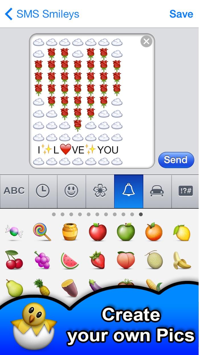 SMS Smileys FREE - Emoji Art Screenshot