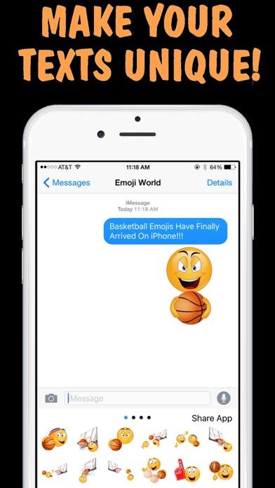 Screenshot for Basketball Emojis Keyboard by Emoji World in United States App Store