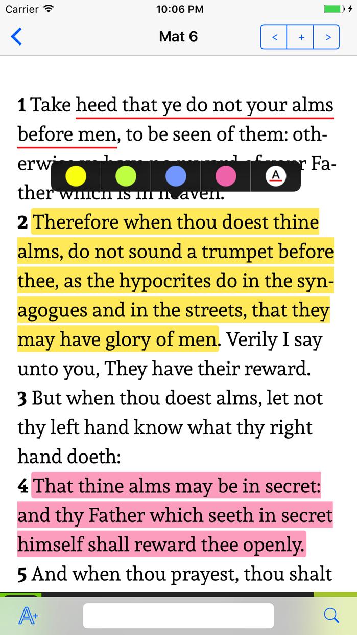 K.J.V. Holy Bible Screenshot