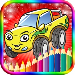 Kids Coloring Book Cute Cars