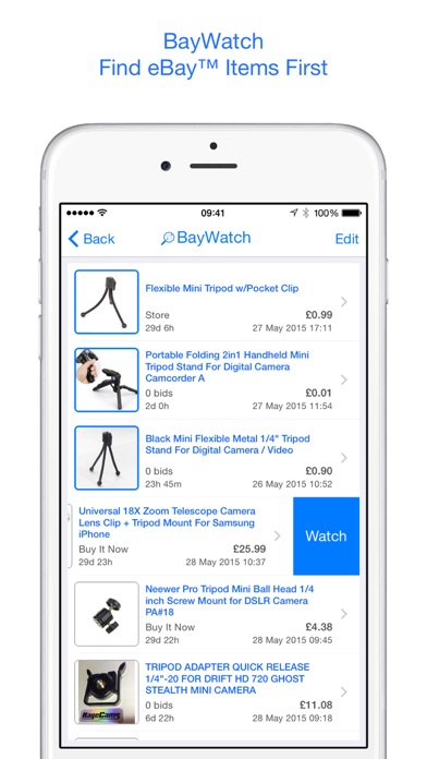 BayWatch - Auction Alerts & Deal Finder for eBay app image