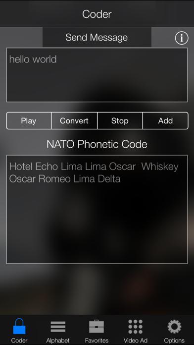 NATO Phonetic Alphabet Code Screenshot on iOS