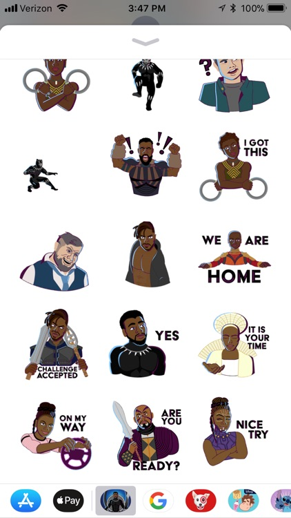 Marvel stickers black panther