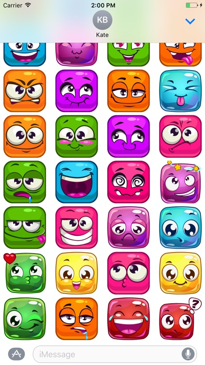 Color Squares Smileys