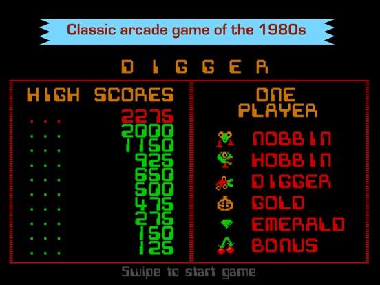 Digger - Classic retro arcade game для iPad