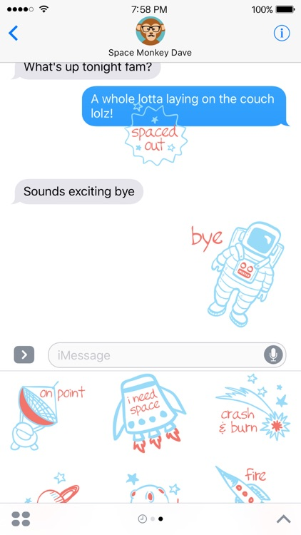Space Pun Stickers